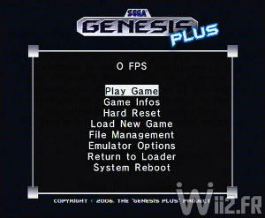 Emulateur Sega MegaDrive sur Wii - Genesis Plus GX