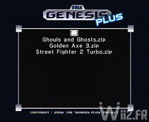 Listing des jeux - Genesis Plus GX