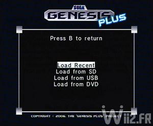 Chargement d'un jeu depuis SD, USB ou DVD - Genesis Plus GX