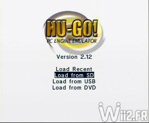 Chargement d'un jeu depuis SD, USB ou DVD - Hugo GX