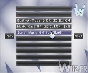 Wii 64 - Listing des jeux