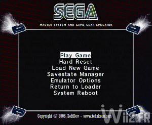 Emulateur Sega Master System et GameGear sur Wii - SMS Plus GX