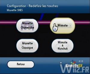 Configuration des manettes - Snes9X GX